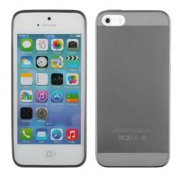 """Juodas silikoninis dėklas Apple iPhone 5/5s telefonui """"Fitty"""""""