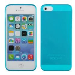 "Mėlynas silikoninis dėklas Apple iPhone 5/5s telefonui ""Fitty"""