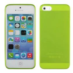 Žalias plonas 0,3mm silikoninis dėklas Apple iPhone 5/5s/SE telefonui