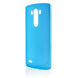 Mėlynas plonas 0,3mm silikoninis dėklas LG G3s telefonui