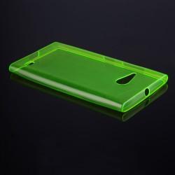 Žalias plonas 0,3mm silikoninis dėklas Nokia Lumia 730 telefonui
