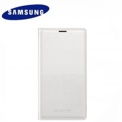 """Originalus baltas atverčiamas dėklas """"Flip Cover"""" Samsung Galaxy S5 telefonui"""