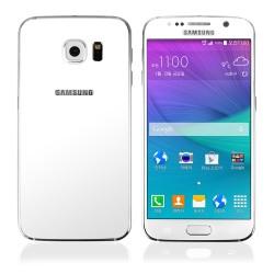 Balti apsauginiai grūdinti stiklai Samsung Galaxy S6 telefonui (Priekiui ir galui)