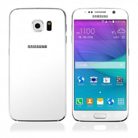 Balti apsauginiai grūdinti stiklai Samsung Galaxy S6 G920 telefonui (Priekiui ir galui)