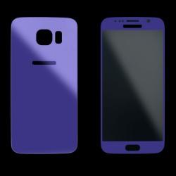 Violetiniai apsauginiai grūdinti stiklai Samsung Galaxy S6 telefonui (Priekiui ir galui)