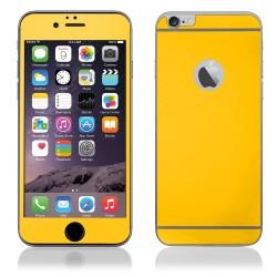 Geltoni apsauginiai grūdinti stiklai Apple iPhone 6 telefonui (Priekiui ir galui)