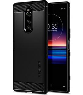 "Juodas dėklas Sony Xperia 1 telefonui ""Spigen Rugged Armor"""