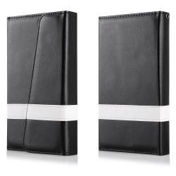 """Atverčiamas juodas dėklas LG G4 telefonui """"Qult Wallet Wings"""""""