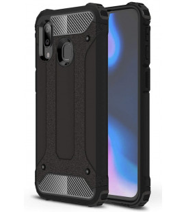 """Juodas dėklas Samsung Galaxy A40 telefonui """"Hybrid Armor Case"""""""