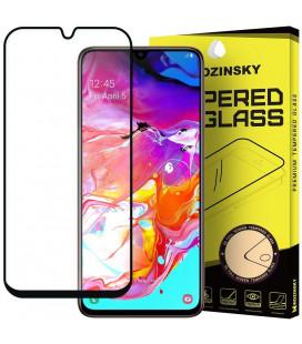 """Juodas apsauginis grūdintas stiklas Samsung Galaxy A70 telefonui """"Wozinsky Full Glue CF"""""""