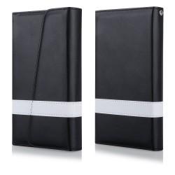 """Atverčiamas juodas dėklas Samsung Galaxy S6 telefonui """"Qult Wallet Wings"""""""