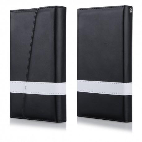 """Atverčiamas juodas dėklas Samsung Galaxy S6 G920 telefonui """"Qult Wallet Wings"""""""