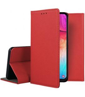"""Raudonas atverčiamas dėklas Samsung Galaxy A50 telefonui """"Smart Book Magnet"""""""