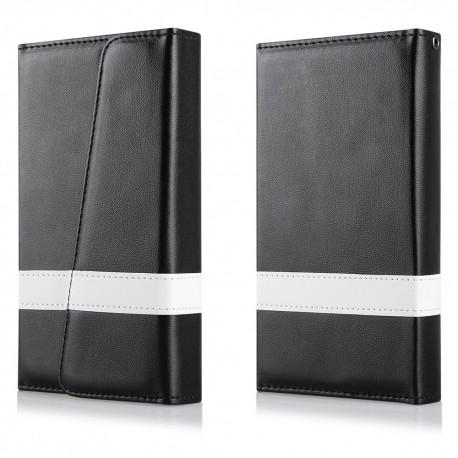 """Atverčiamas juodas dėklas LG G4c H515 telefonui """"Qult Wallet Wings"""""""