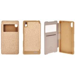 """Auksinės spalvos atverčiamas dėklas Samsung Galaxy S3/S3 Neo telefonui """"WOW Bumper View Mercury"""""""
