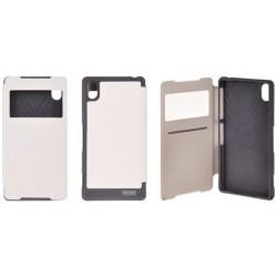 """Baltas atverčiamas dėklas Samsung Galaxy J5 J500 telefonui """"WOW Bumper View Mercury"""""""
