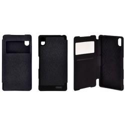 """Juodas atverčiamas dėklas Samsung Galaxy J5 J500 telefonui """"WOW Bumper View Mercury"""""""