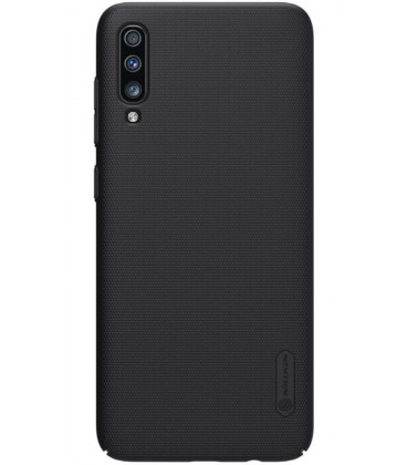 "Juodas dėklas Samsung Galaxy A70 telefonui ""Nillkin Frosted Shield"""