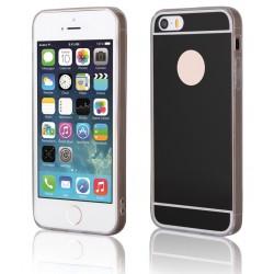 """Juodas silikoninis dėklas Apple iPhone 5/5s telefonui """"Mirror"""""""