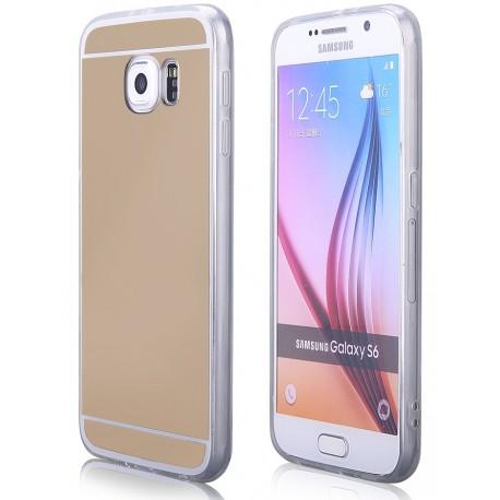 """Auksinės spalvos silikoninis dėklas Samsung Galaxy S6 G920 telefonui """"Mirror"""""""