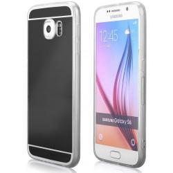 """Juodas silikoninis dėklas Samsung Galaxy S6 telefonui """"Mirror"""""""