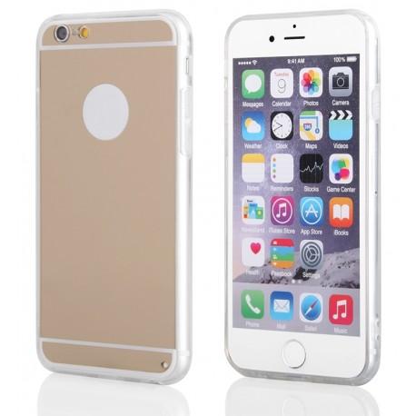 """Auksinės spalvos silikoninis dėklas Apple iPhone 6/6s telefonui """"Mirror"""""""