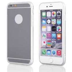 """Sidabrinės spalvos silikoninis dėklas Apple iPhone 6/6s telefonui """"Mirror"""""""