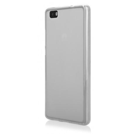 "Skaidrus silikoninis dėklas Huawei Ascend Y6 telefonui ""Frosted"""