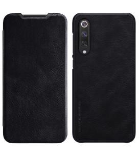 """Odinis juodas atverčiamas dėklas Xiaomi Mi9 SE telefonui """"Nillkin Qin"""""""