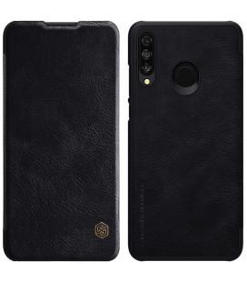 """Odinis juodas atverčiamas dėklas Huawei P30 Lite telefonui """"Nillkin Qin"""""""