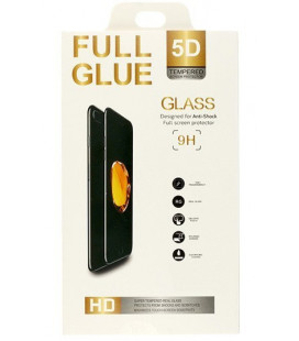 """5D Lenktas juodas apsauginis grūdintas stiklas Huawei Y5 2019 telefonui """"Full Glue"""""""
