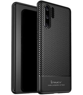 """Juodas dėklas Huawei P30 Pro telefonui """"iPaky Carbon Fiber"""""""
