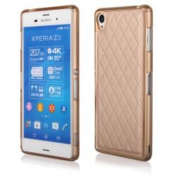 """Auksinės spalvos dėklas Sony Xperia Z3 telefonui """"Skin"""""""