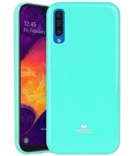 """Mėtos spalvos silikoninis dėklas Samsung Galaxy A50 telefonui """"Mercury Goospery Pearl Jelly Case""""koninis dėklas Samsung Galaxy S"""