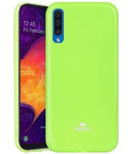 """Žalias silikoninis dėklas Samsung Galaxy A50 telefonui """"Mercury Goospery Pearl Jelly Case"""""""