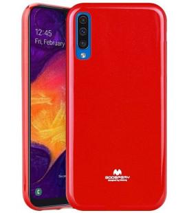 """Raudonas silikoninis dėklas Samsung Galaxy A50 telefonui """"Mercury Goospery Pearl Jelly Case"""""""