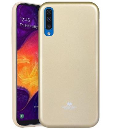 """Auksinės spalvos silikoninis dėklas Samsung Galaxy A50 telefonui """"Mercury Goospery Pearl Jelly Case"""""""