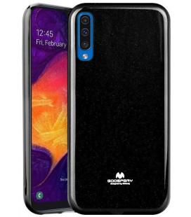 """Juodas silikoninis dėklas Samsung Galaxy A50 telefonui """"Mercury Goospery Pearl Jelly Case"""""""