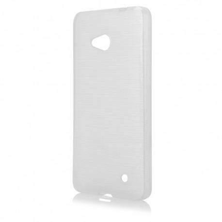 """Skaidrus silikoninis dėklas Microsoft Lumia 640 telefonui """"Jelly Metallic"""""""