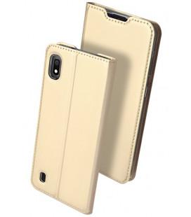 """Auksinės spalvos atverčiamas dėklas Samsung Galaxy A10 telefonui """"Dux Ducis Skin"""""""
