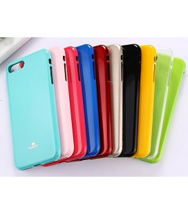"""Raudonas silikoninis dėklas Samsung Galaxy A40 telefonui """"Mercury Goospery Pearl Jelly Case"""""""