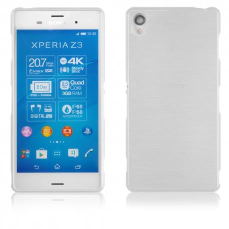 """Skaidrus silikoninis dėklas Sony Xperia Z3 D6653 telefonui """"Jelly Metallic"""""""