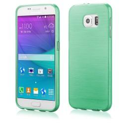 """Žalias silikoninis dėklas Samsung Galaxy S6 telefonui """"Jelly Metallic"""""""