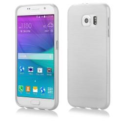 """Baltas silikoninis dėklas Samsung Galaxy S6 telefonui """"Jelly Metallic"""""""