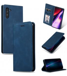 """Dėklas """"Business Style"""" Samsung A105 A10 tamsiai mėlynas"""