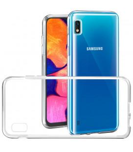Skaidrus plonas 0,3mm silikoninis dėklas Samsung Galaxy A10E telefonui