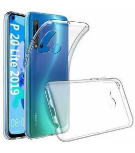 Skaidrus plonas 0,3mm silikoninis dėklas Huawei P20 Lite 2019 telefonui