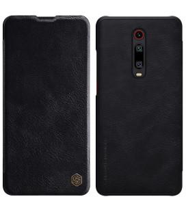 """Odinis juodas atverčiamas dėklas Xiaomi Mi 9T telefonui """"Nillkin Qin"""""""