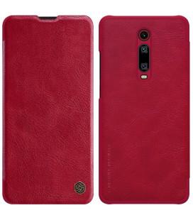 """Odinis raudonas atverčiamas dėklas Xiaomi Mi 9T telefonui """"Nillkin Qin"""""""