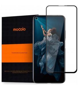 """Juodas apsauginis grūdintas stiklas Huawei Honor 20 telefonui """"Mocolo"""""""
